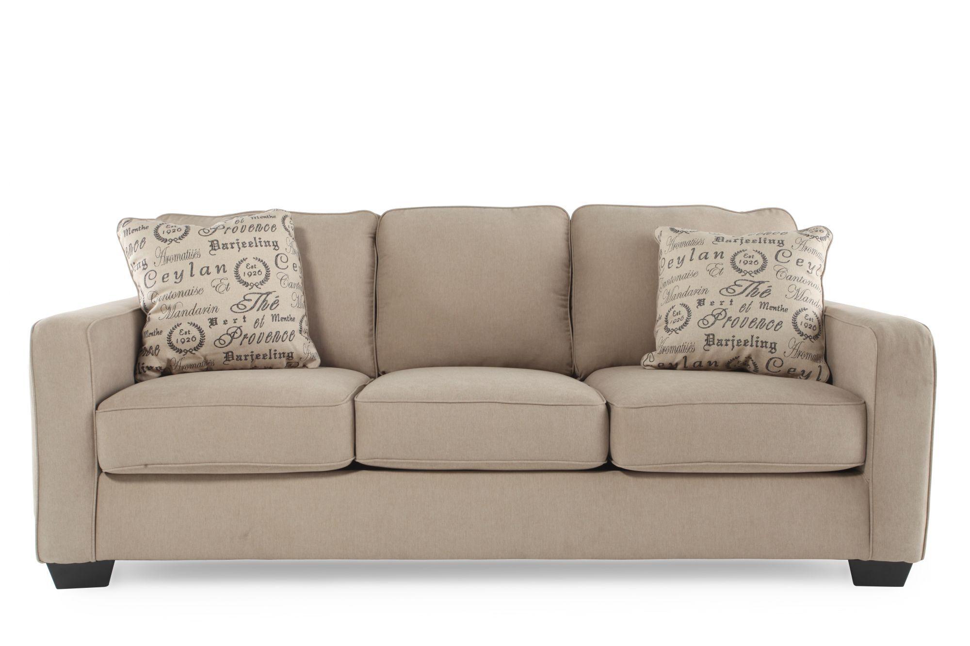 Casual 84u0026quot; Sofa In Mushroom ...