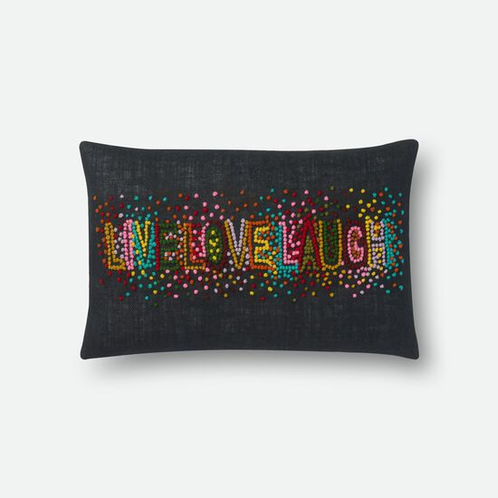 "13""x21"" Pillow Cover Only in Black/Multi"