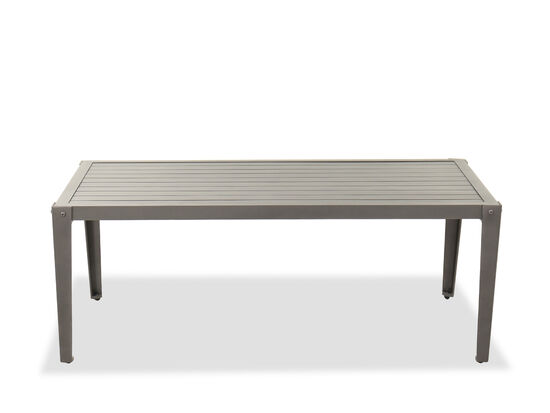 Casual Aluminum Patio Coffee Table in Gray