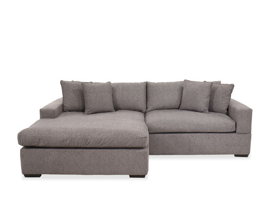 Two Piece Casual Reversible Sectional In Gray