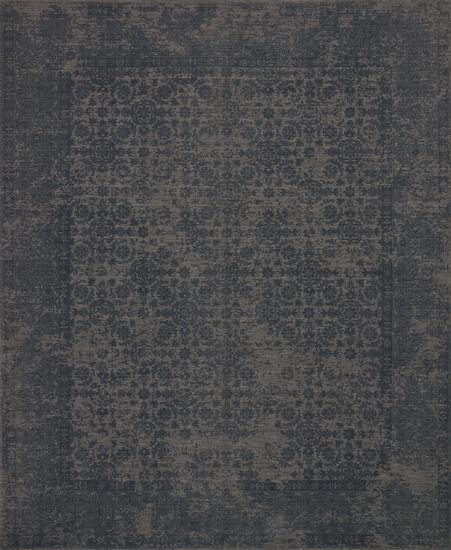 "Traditional 2'-6""x7'-6"" Rug in Charcoal"