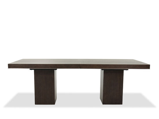 """Casual 90"""" to 110"""" Rectangular Table in Charcoal"""