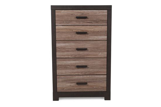 "54"" Contemporary Chest in Dark Brown"