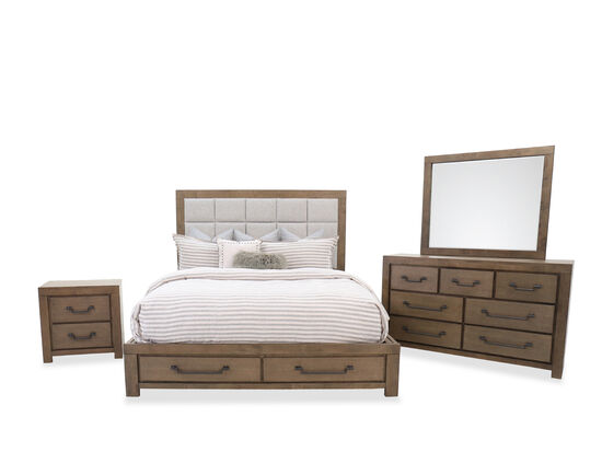 Four-Piece Casual King Suite in Oak