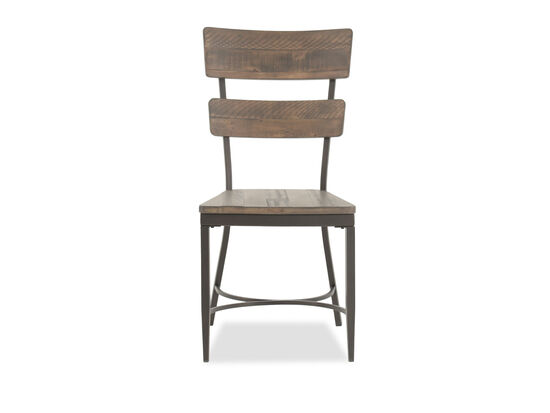Ladder-Paneled 38.5'' Side Chair in Brown