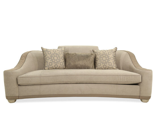 Nailhead-Trimmed Casual 102'' Sofa in Pewter