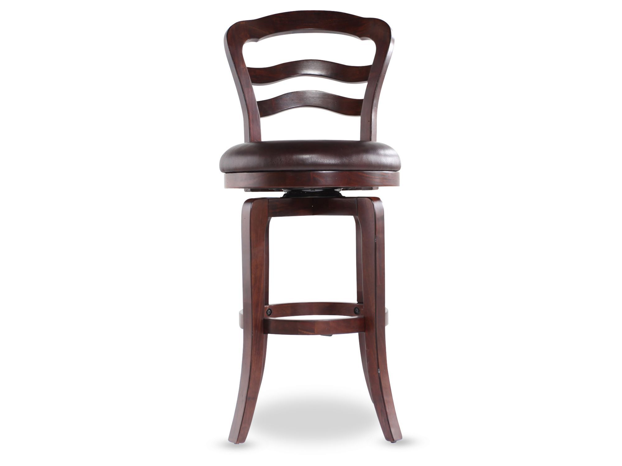 Traditional Swivel Bar Stool In Cherry Mathis Brothers Furniture