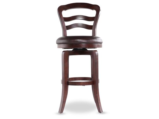 Traditional Swivel Bar Stool in Cherry
