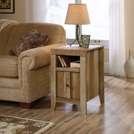 Reversible Door Contemporary Side Table in Oak