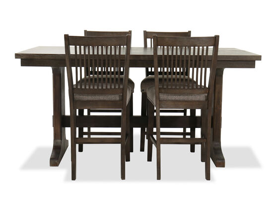 Five-Piece Casual Table and Chair Set in Dark Oak/Brown