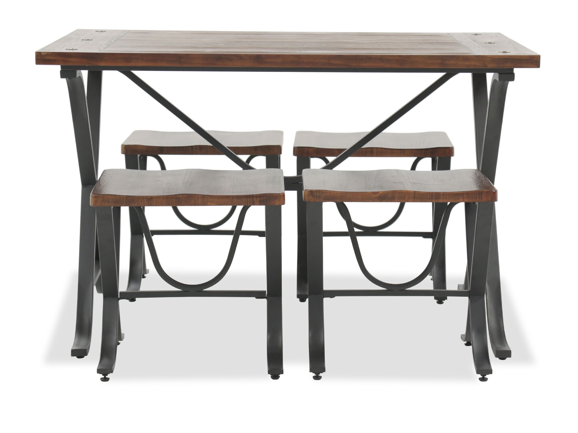 Five Piece Contemporary Dining Set In Brown ...