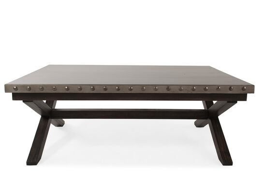X-Base Contemporary Cocktail Table in Charcoal
