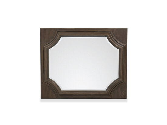 "40"" Traditional Hexagonal Mirror in Brown"