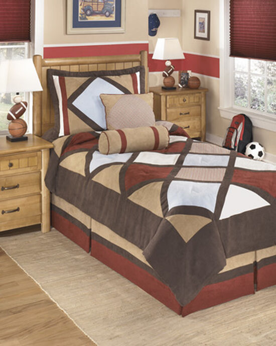 Casual Diamond Pattern Twin Top Of Bed Set