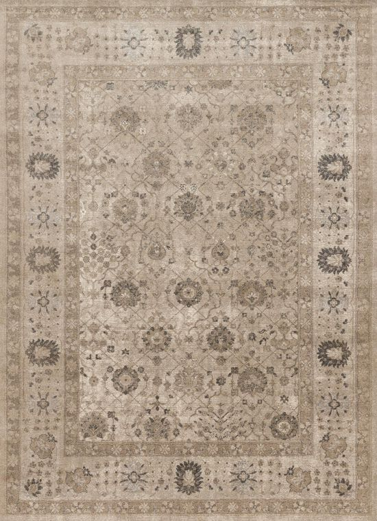 """Transitional 7'-10""""x10'-6"""" Rug in Taupe/Taupe"""