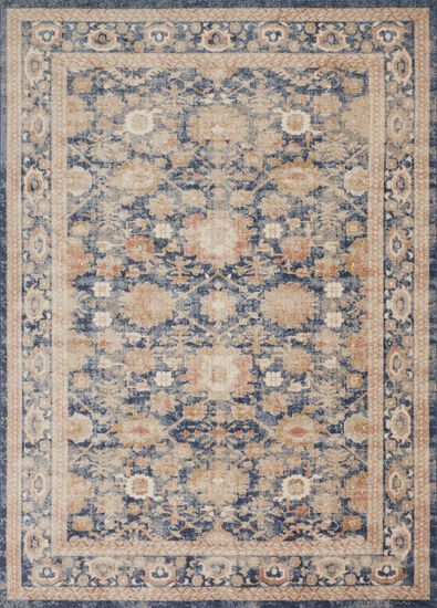 Traditional 13'x18' Rug in Navy