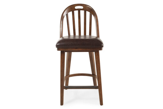 "Traditional 45"" Armless Bar Stool in Brown"