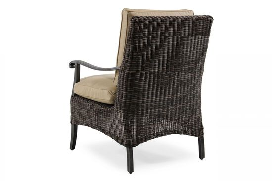Woven Aluminum Dining Chair in Beige