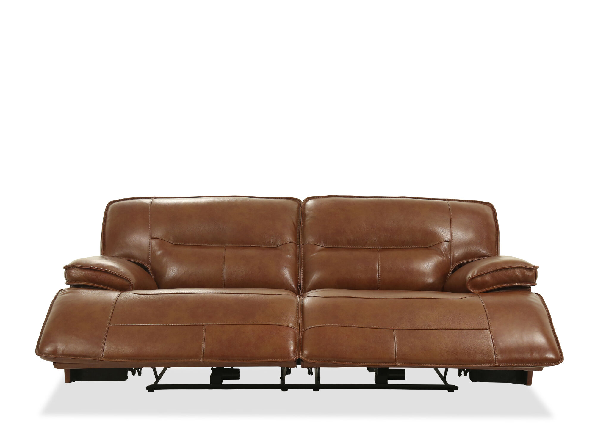Traditional Reclining 87 Sofa In Chestnut