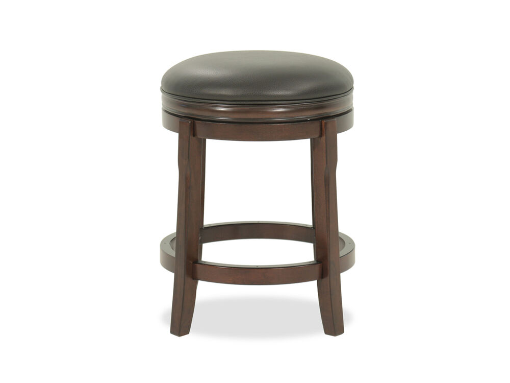 Casual 25 Swivel Bar Stool In Brown Mathis Brothers Furniture