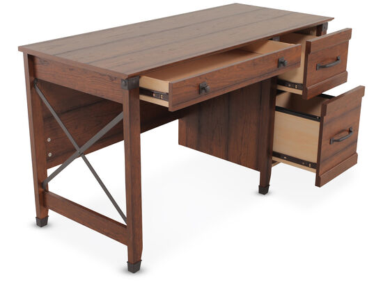 "53"" Traditional Three-Drawer Desk in Washington Cherry"