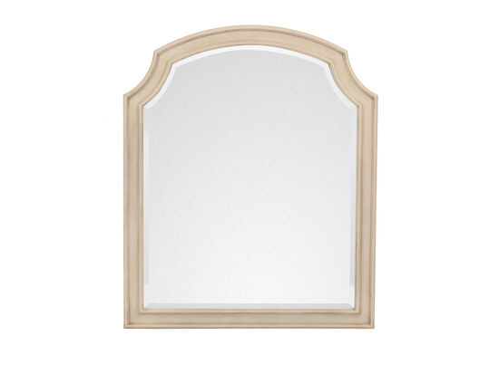 Transitional Arched Youth Mirror in Vintage Taupe
