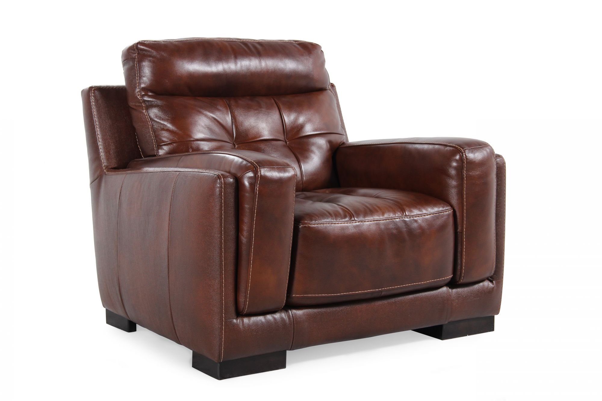... Tufted Leather Chair In Brown ...