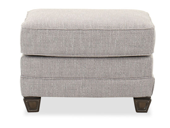 """Traditional 29"""" Ottoman in Slate"""