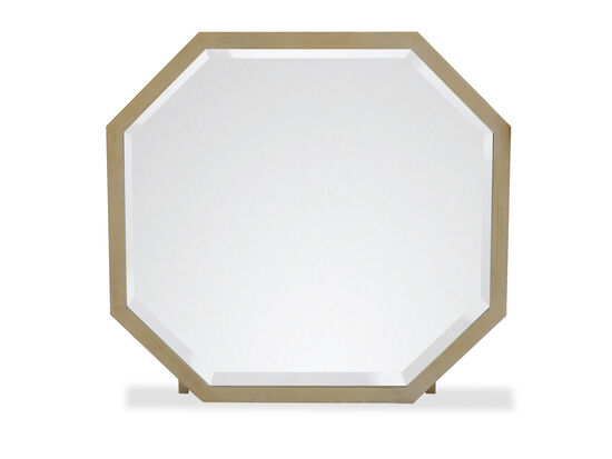 Octagonal Contemporary Youth Mirror in Gold