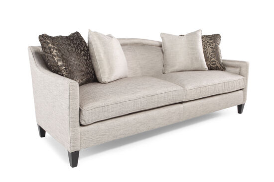 Arched Back Nailhead Accented 90 Sofa In Cream Mathis Brothers Furniture