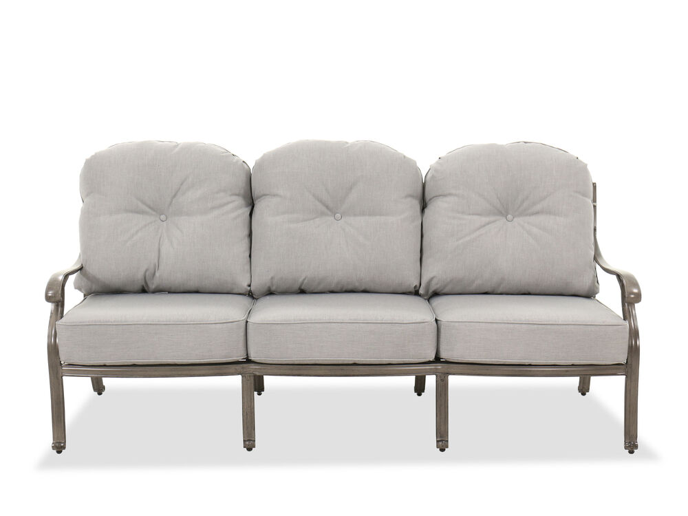 High-Back Casual Patio Sofa in Gray