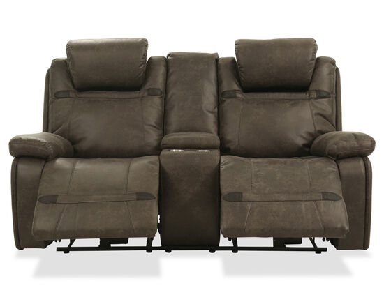 """Power Reclining Casual 76"""" Loveseat in Brown"""