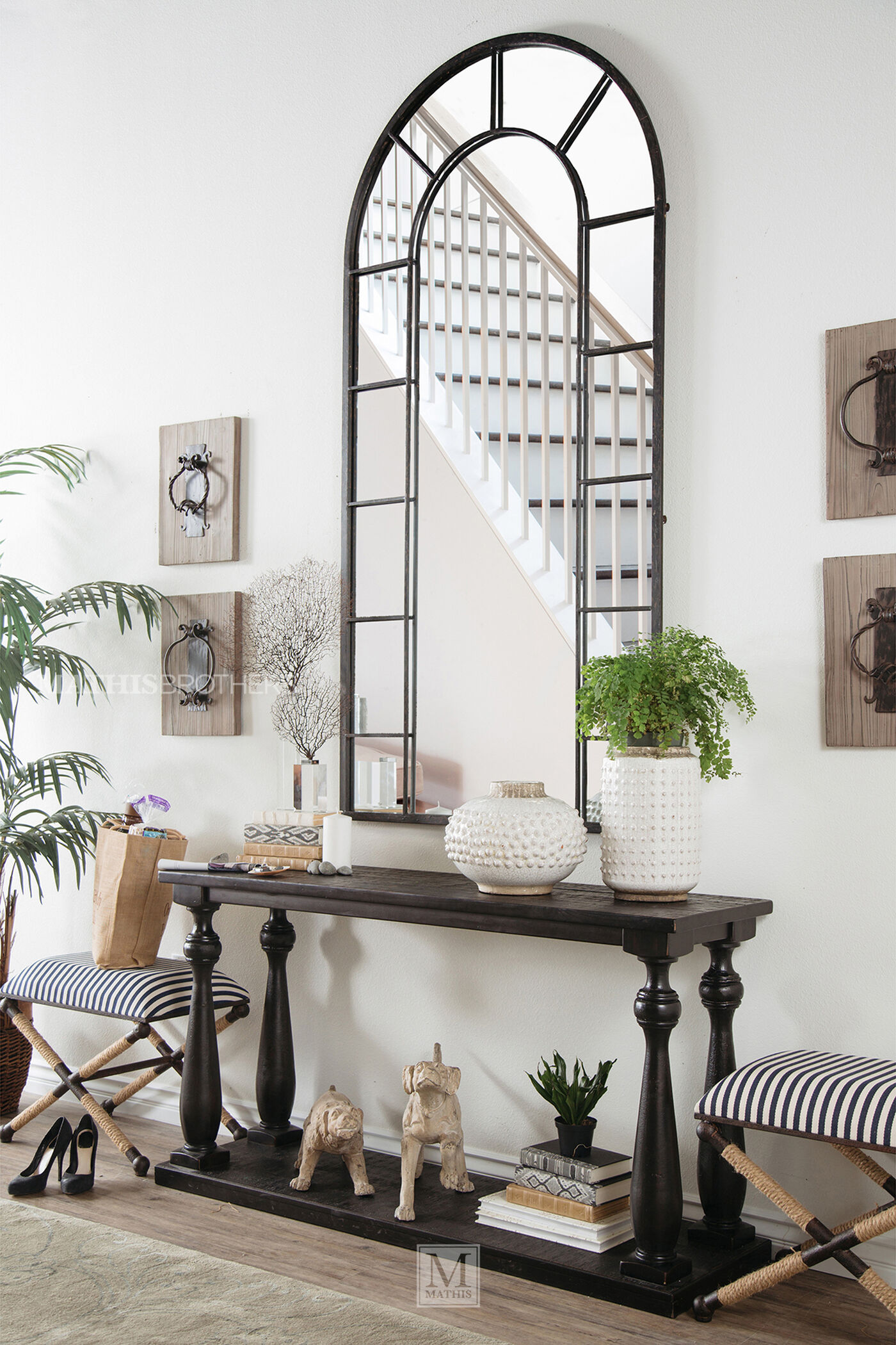 Ashley Mallacar Sofa Table | Mathis Brothers Furniture
