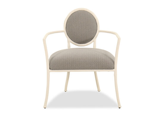 """Round Back 27.5"""" Chair in Chalky White"""