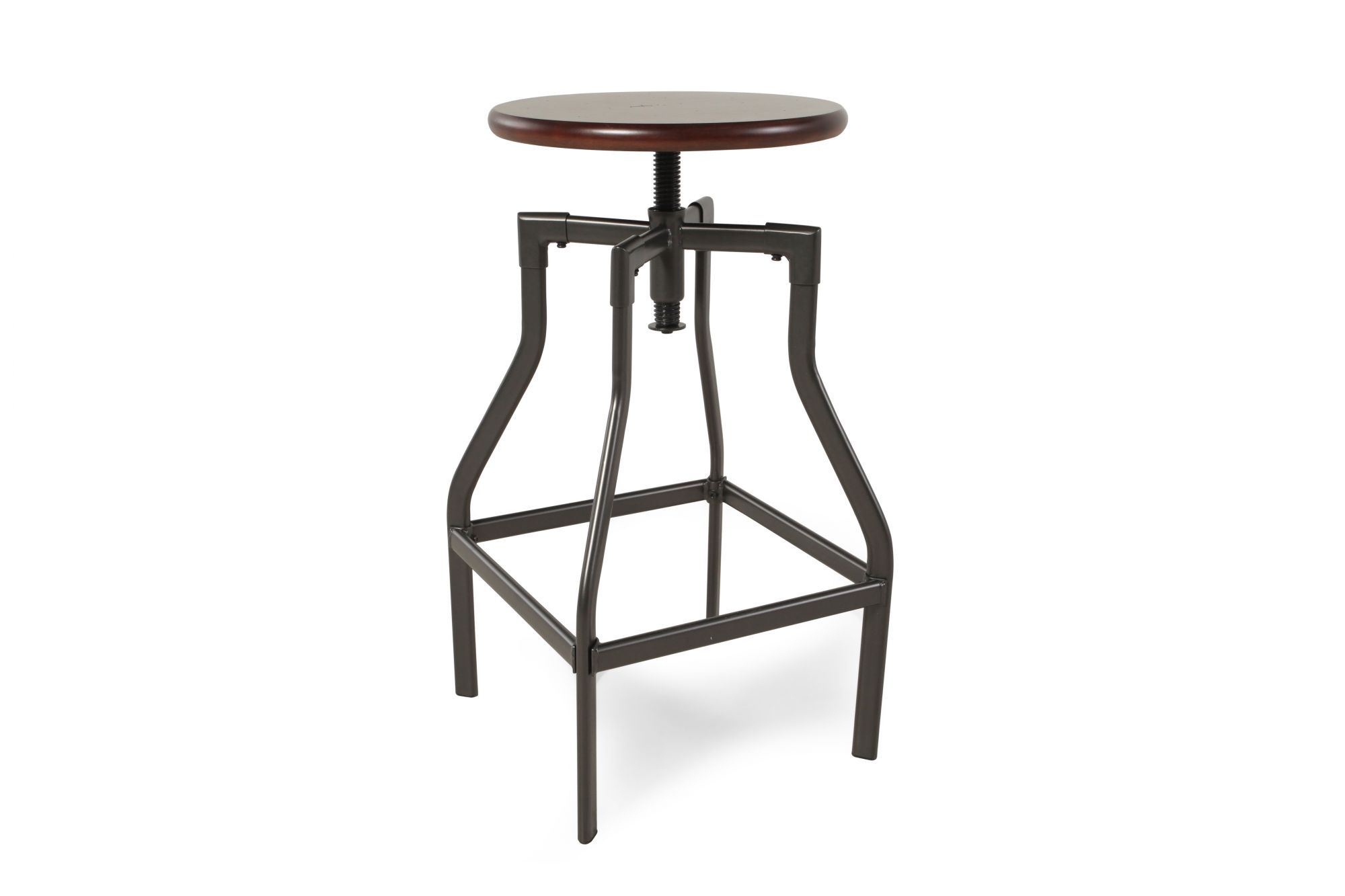 14f76de3d4818e Adjustable Bar Stool in Pewter | Mathis Brothers Furniture