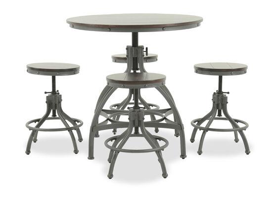 Five-Piece Casual 36'' Counter Dining Set in Dark Bronze