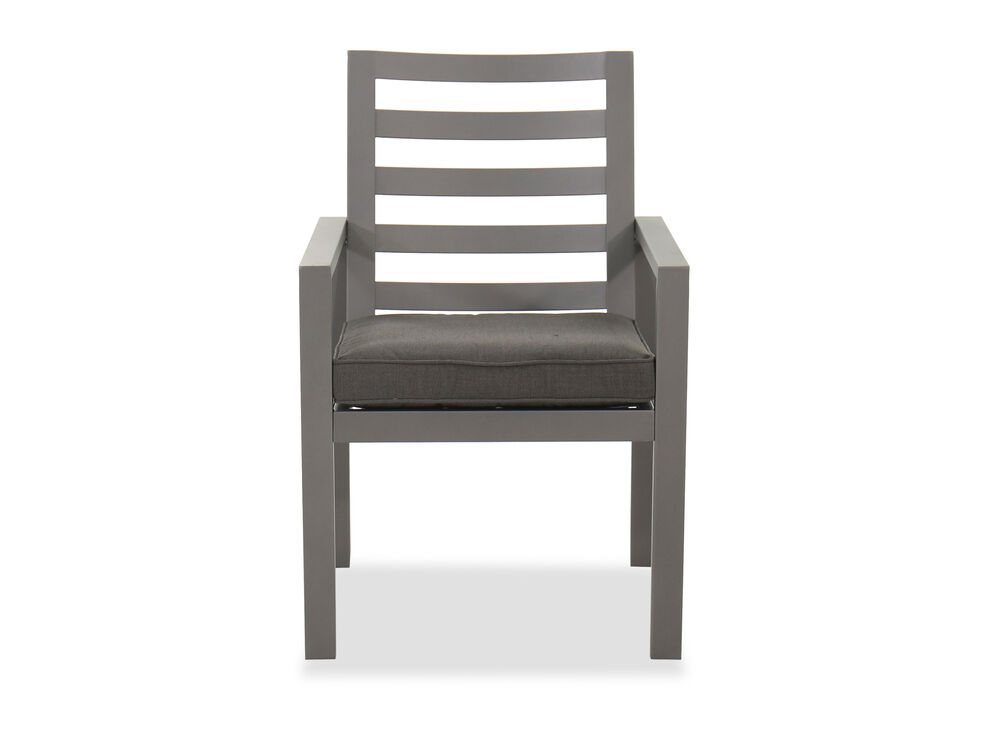 Casual Patio Dining Arm Chair in Gray   Mathis Brothers ...