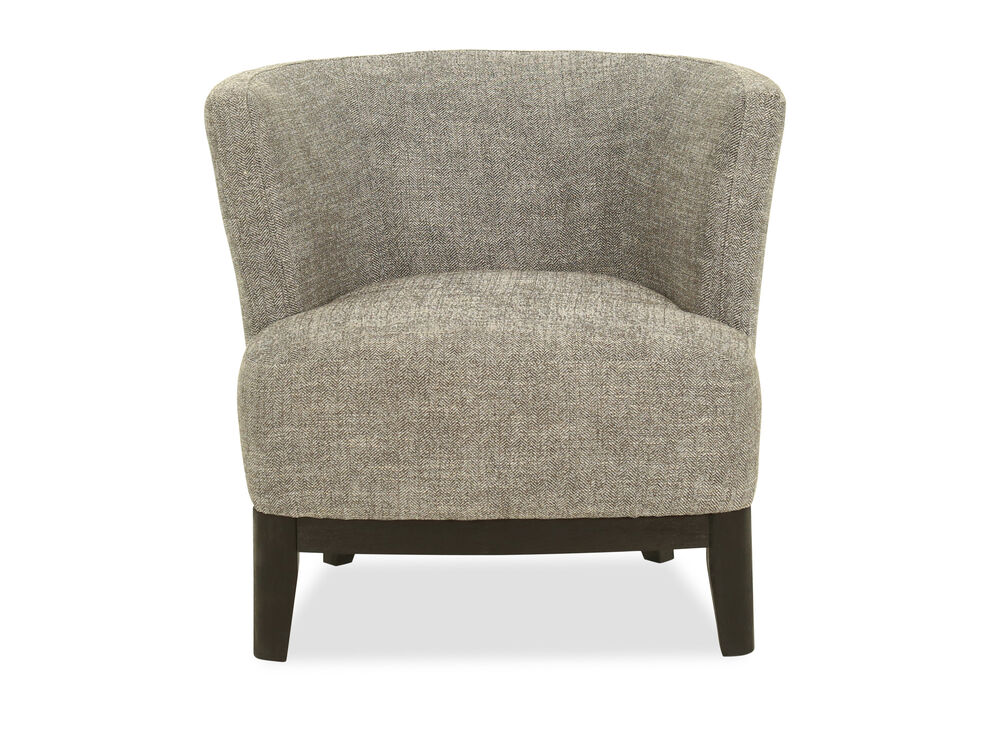 Casual Curved Back Accent Chair in Gray