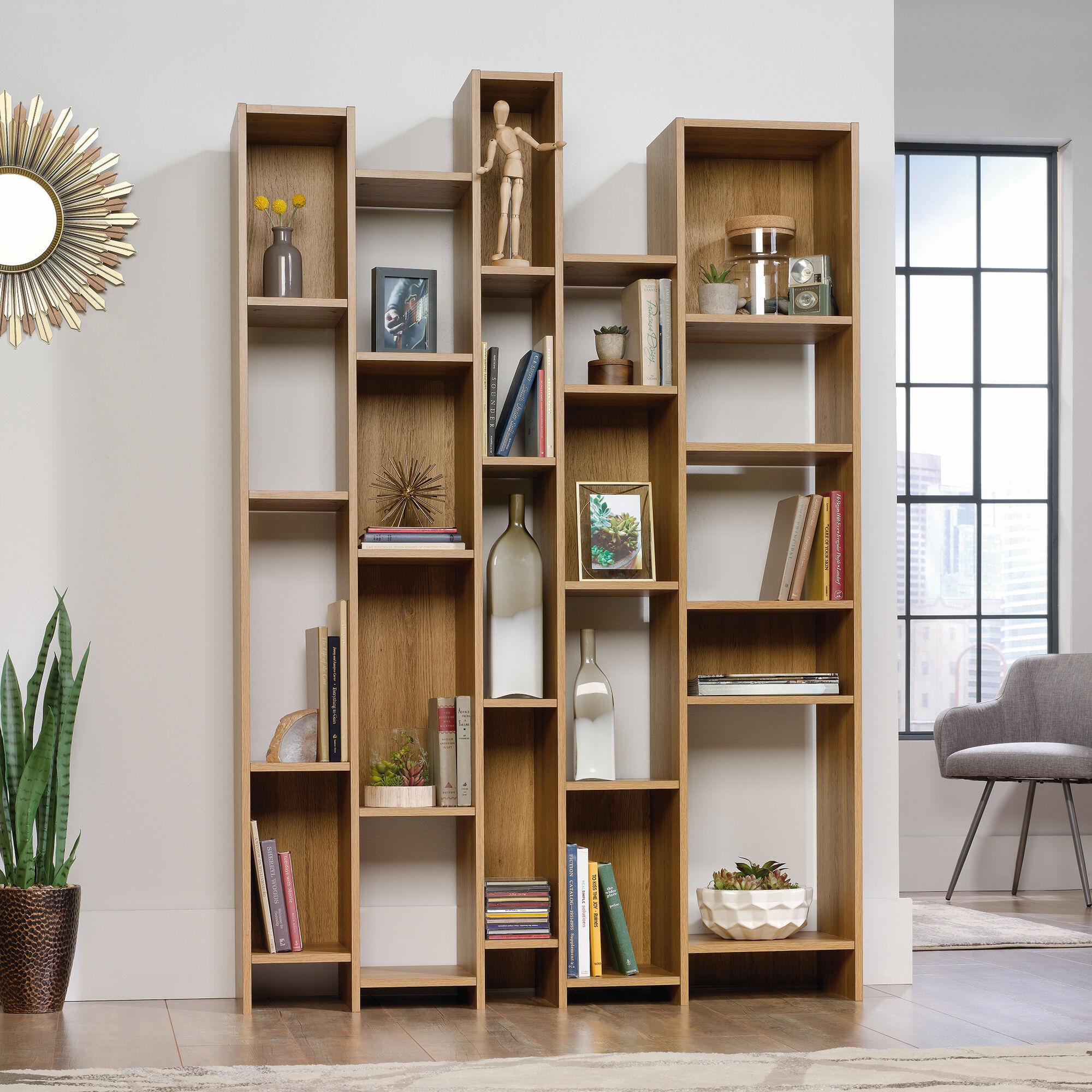 Innovative Wall Shelves: Mid-Century Modern Wall Shelf In Pale Oak