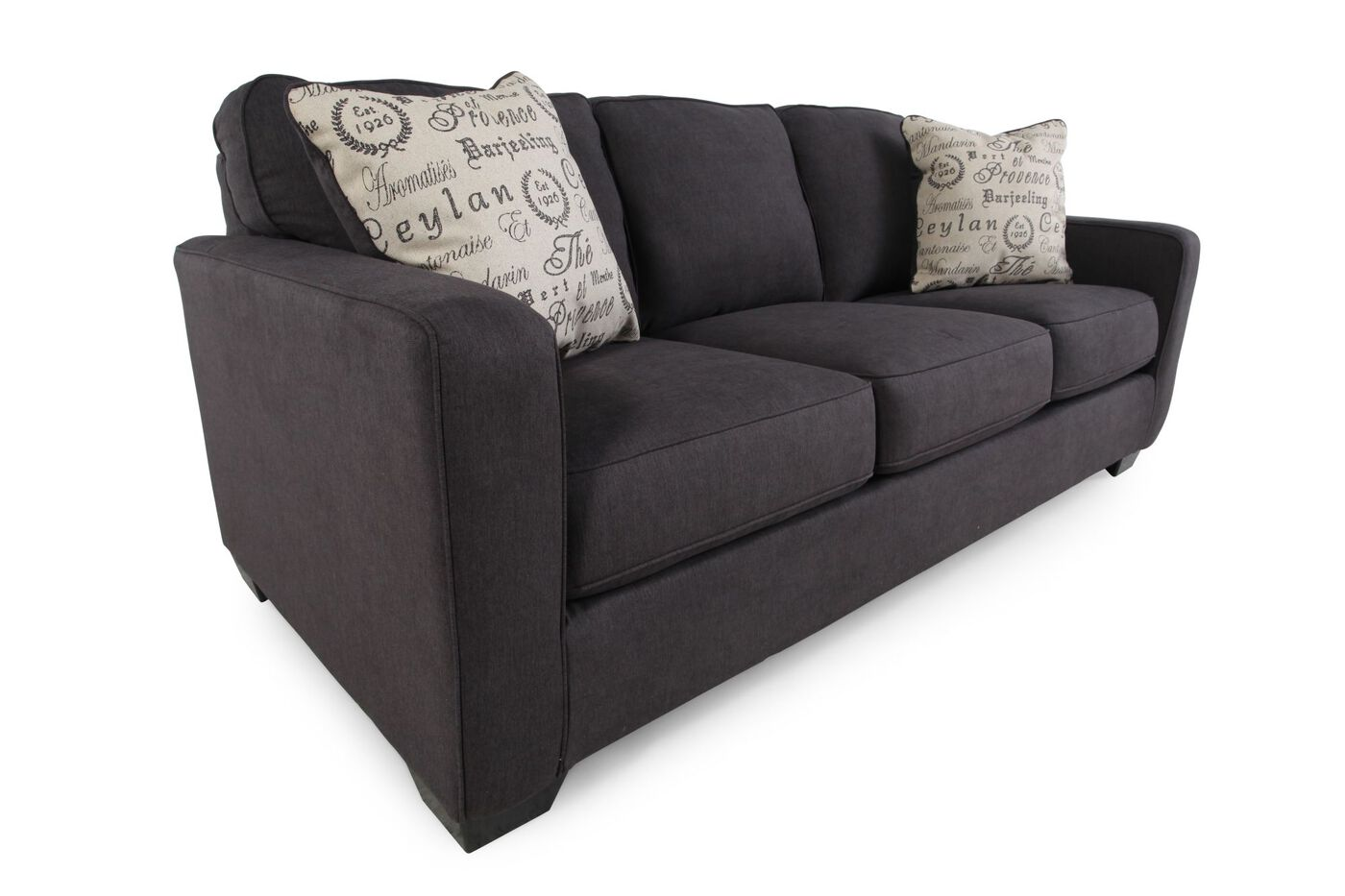 Low Profile Casual 84 Quot Sofa In Charcoal Mathis Brothers