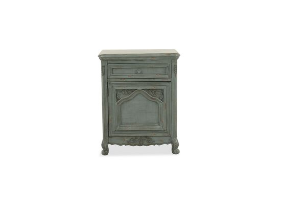 Contemporary One-Drawer Chairside Chest in White