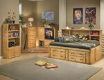 Contemporary Youth Four-Drawer Underbed Storage Unit in Cinnamon