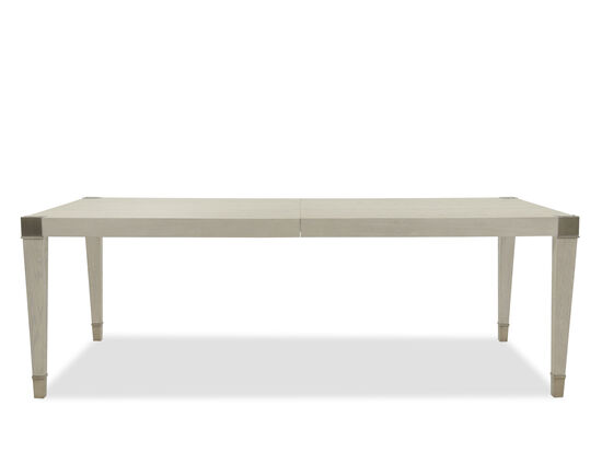 "Modern 44"" to 68"" Rectangular Dining Table in Dove White"