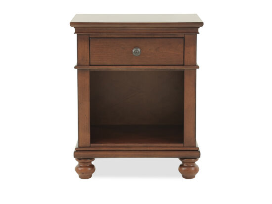 "30"" Transitional One-Drawer Nightstand in Whiskey Brown"