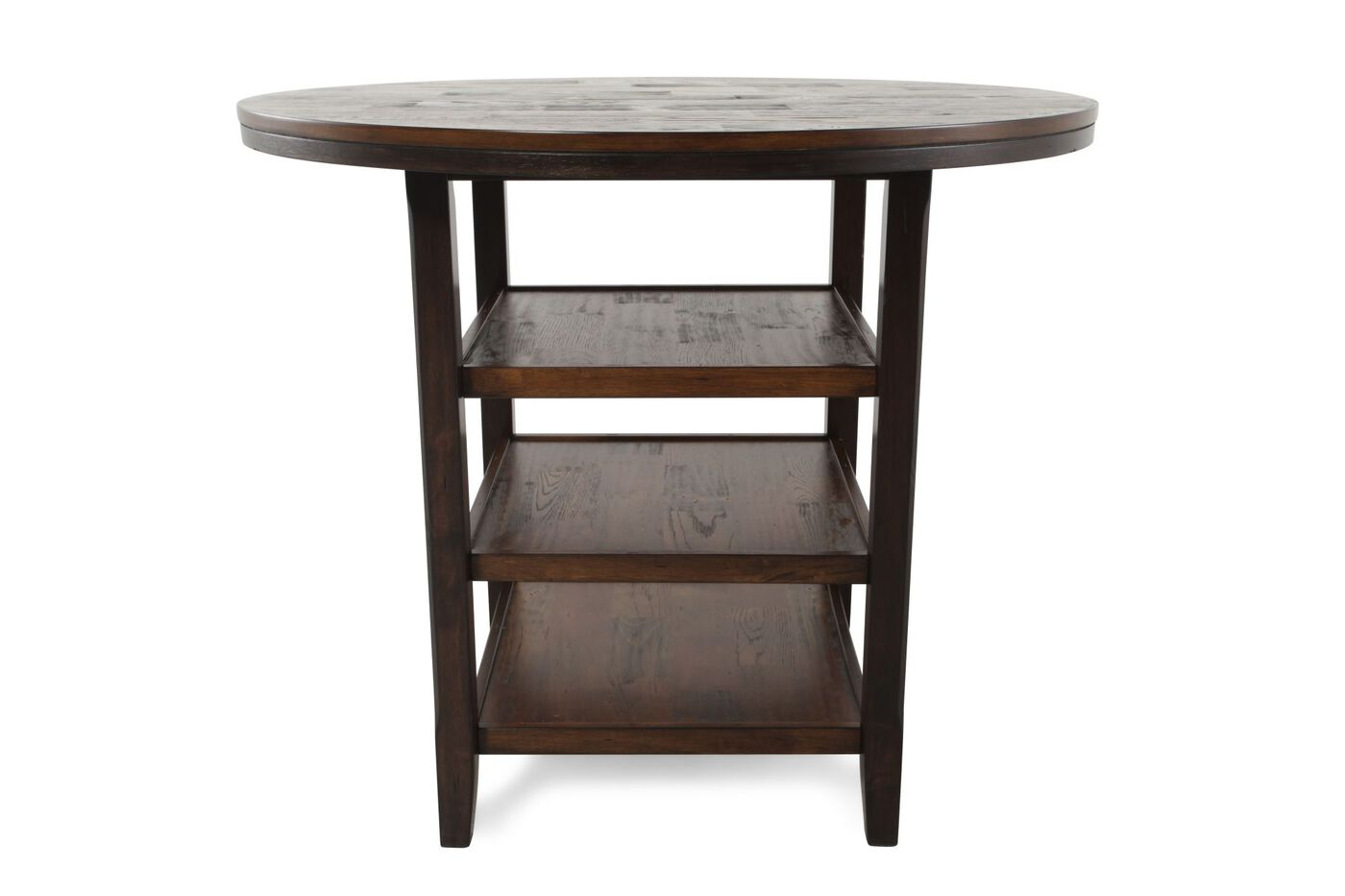 46 Quot Tri Shelf Counter Table In Dark Brown Mathis