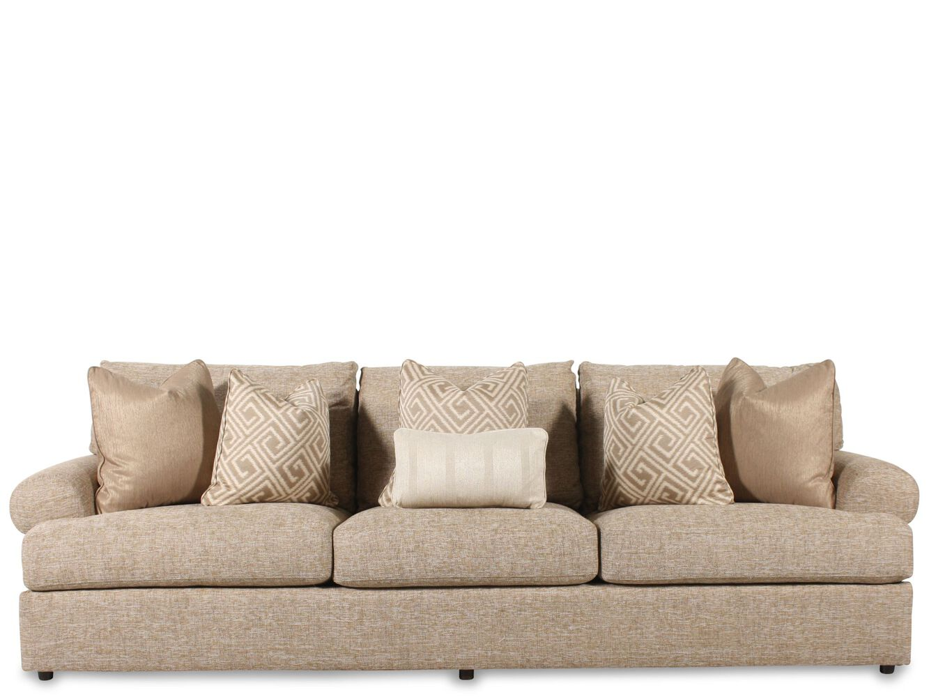 Contemporary 117 Sofa In Light Brown Mathis Brothers Furniture Bernhardt Andrew 3pc Sectional