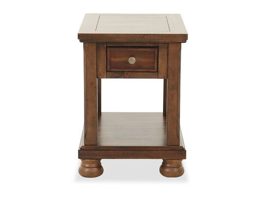 Traditional Chairside Table in Chestnut