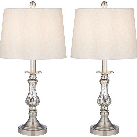 Ammolite Flute Table Lamp Set