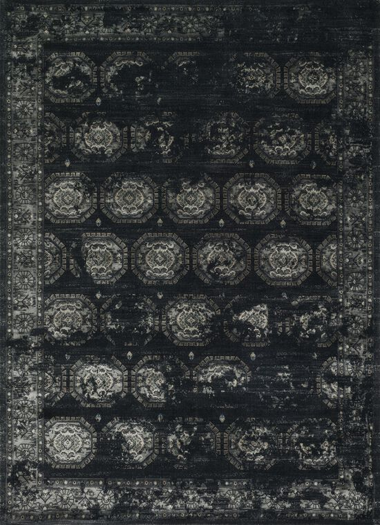 """Transitional 7'-6""""x10'-5"""" Rug in Black/Charcoal"""