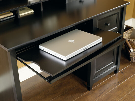 "47"" Digital Dock Solid Wood Computer Desk in Estate Black"